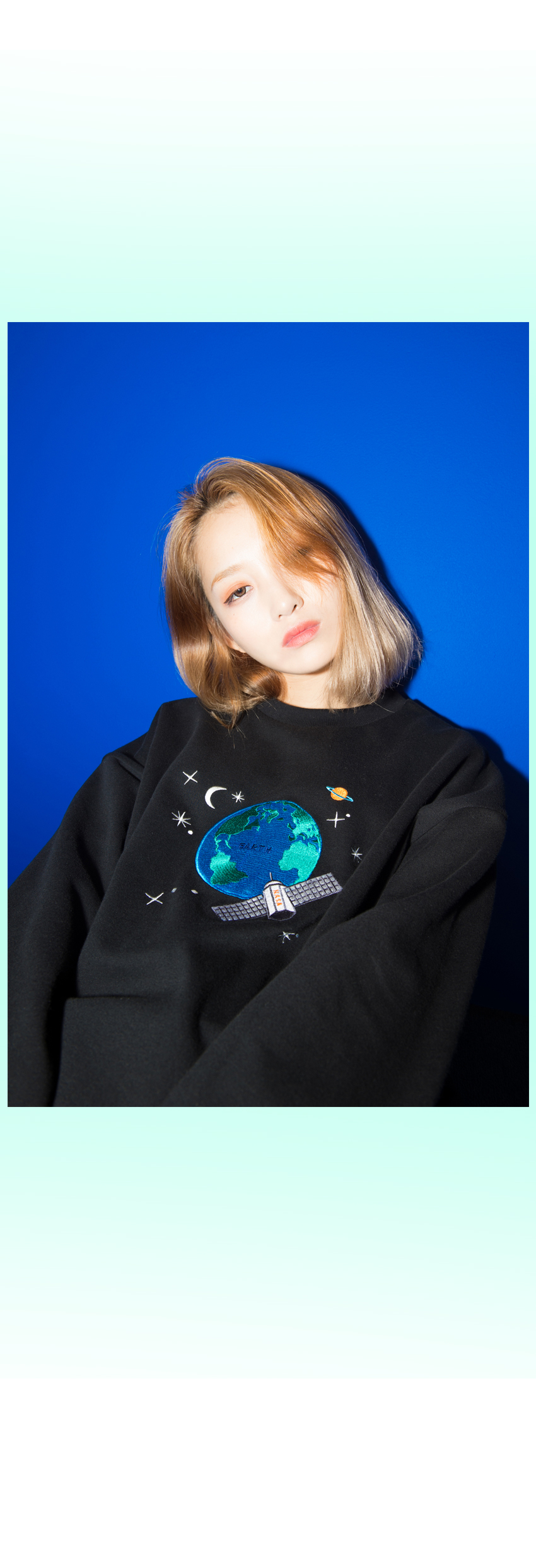 Embroidered Satellite Detail Sweatshirt|